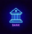 bank neon label vector image