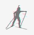 biathlete runs the distance vector image vector image