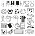 black and white soccer 28 elements set vector image vector image