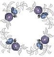 Blue and violet rose border vector image