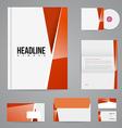 branding design template vector image vector image