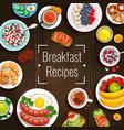 breakfast recipes vector image vector image