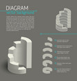 business gray diagram infographic vector image vector image