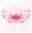 Butterfly-blot on crumpled paper vector image vector image