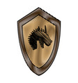 cartoon shield knight fairy tale emblem victorian vector image