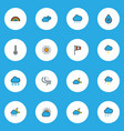 climate icons colored line set with sunlight vector image vector image