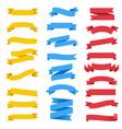 colorful ribbon set white background vector image