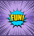 comic page bright purple template vector image