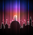 Cute shine card with mosque vector image vector image