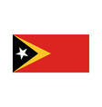 east timor flag vector image
