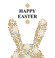 easter greeting card with decorative rabbit ears vector image vector image