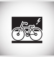 environment friendly transportation on white vector image