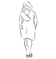 Fat woman vector image
