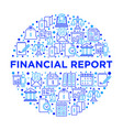 financial report concept in circle vector image