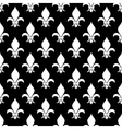 fleur de lis seamless pattern in black and vector image vector image