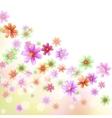 floral border wallpaper vector image