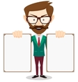 Full body portrait of happy smiling businessman vector image