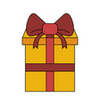 giftbox present isolated vector image vector image