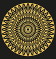Golden ornament mandala for business printing