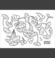 graphic ginkgo biloba branches vector image vector image