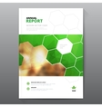 Green annual report Leaflet Brochure Flyer vector image