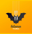 halloween menu logo design background vector image vector image