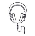 headphones music isolated icon design vector image