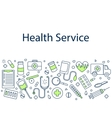 Health service banner vector image
