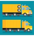 Heavy transport shipping truck Transportation vector image
