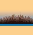 horizontal city landscape vector image