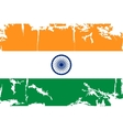 Indian grunge flag vector image vector image
