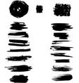 Ink blots stroke vector image vector image