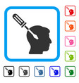 intellect screwdriver tuning framed icon vector image vector image