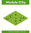 isometric natural ecological vector image