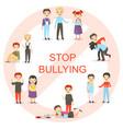 kids bullying set vector image