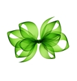 Light Green Transparent Bow on White Background vector image vector image