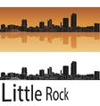 Little Rock skyline in orange background vector image