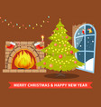 merry christmas and room vector image