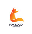 modern fox logo and emblem vector image vector image