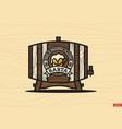 modern professional logo emblem beer barta vector image vector image