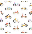 modern seamless pattern with kids bicycles of vector image vector image