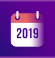 new year 2019 calendar icon vector image vector image