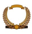 olive branch emblem icon image vector image vector image