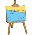 picture on the wooden easel vector image vector image