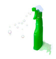 plastic bottle with detergent vector image