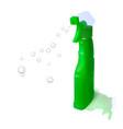 plastic bottle with detergent vector image