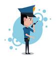 policeman cartoon design vector image vector image