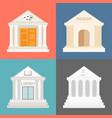 public building icons set vector image vector image