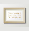 realistic rectangular gold frame template frame vector image