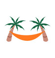 relaxing summer beach hammock object design vector image vector image